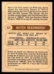 1976 O-Pee-Chee WHA #53  Butch Deadmarsh  Back Thumbnail