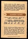 1976 O-Pee-Chee WHA #50  Gordie Howe  Back Thumbnail