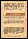 1976 O-Pee-Chee WHA #41  Rich Leduc  Back Thumbnail