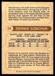 1976 O-Pee-Chee WHA #29  Dennis Sobchuk  Back Thumbnail