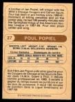 1976 O-Pee-Chee WHA #27  Poul Popiel  Back Thumbnail