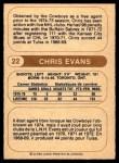 1976 O-Pee-Chee WHA #22  Chris Evans  Back Thumbnail