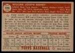 1952 Topps #125  Bill Rigney  Back Thumbnail
