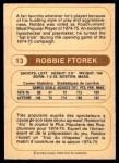 1976 O-Pee-Chee WHA #13  Robbie Ftorek  Back Thumbnail