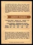 1976 O-Pee-Chee WHA #11  Gerry Pinder  Back Thumbnail
