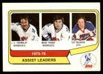 1976 O-Pee-Chee WHA #2   -  J.C. Tremblay / Mark Tardif / Ulf Nilsson Assist Leaders Front Thumbnail
