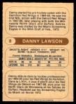 1976 O-Pee-Chee WHA #8  Danny Lawson  Back Thumbnail