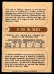 1976 O-Pee-Chee WHA #17  Rick Dudley  Back Thumbnail