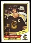 1976 O-Pee-Chee WHA #17  Rick Dudley  Front Thumbnail