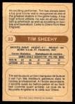 1976 O-Pee-Chee WHA #33  Tim Sheehy  Back Thumbnail