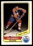 1976 O-Pee-Chee WHA #33  Tim Sheehy  Front Thumbnail