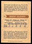 1976 O-Pee-Chee WHA #34  Brent Hughes  Back Thumbnail