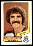 1976 O-Pee-Chee WHA #34  Brent Hughes  Front Thumbnail