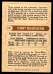 1976 O-Pee-Chee WHA #38  Terry Ruskowski  Back Thumbnail
