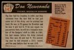 1955 Bowman #143  Don Newcombe  Back Thumbnail