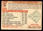 1956 Topps #90 CEN  Reds Team Back Thumbnail