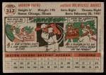 1956 Topps #312  Andy Pafko  Back Thumbnail