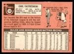1969 Topps #130  Carl Yastrzemski  Back Thumbnail