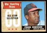 1968 Topps #373   -  Frank Robinson All-Star Front Thumbnail