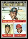 1970 Topps #65   -  Hank Aaron / Willie McCovey / Lee May NL HR Leaders Front Thumbnail