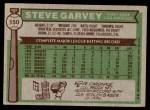 1976 Topps #150  Steve Garvey  Back Thumbnail