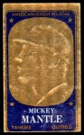 1965 Topps Embossed #11   Mickey Mantle   Front Thumbnail