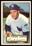 1952 Topps #307  Frank Campos  Front Thumbnail