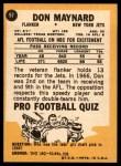 1967 Topps #97  Don Maynard  Back Thumbnail
