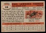 1956 Topps #18  Paul Younger  Back Thumbnail