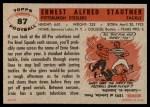 1956 Topps #87  Ernie Stautner  Back Thumbnail
