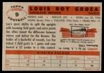 1956 Topps #9  Lou Groza  Back Thumbnail