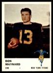 1961 Fleer #215  Don Maynard  Front Thumbnail