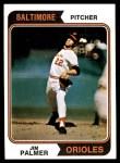 1974 Topps #40  Jim Palmer  Front Thumbnail