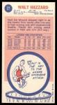 1969 Topps #27  Walt Hazzard  Back Thumbnail