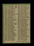 1971 Topps #369 RED  Checklist 4 Back Thumbnail