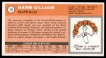 1970 Topps #73  Herm Gilliam   Back Thumbnail