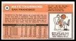 1970 Topps #90  Nate Thurmond   Back Thumbnail