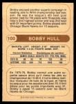 1976 O-Pee-Chee WHA #100  Bobby Hull  Back Thumbnail