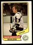1976 O-Pee-Chee WHA #124  Ralph Backstrom  Front Thumbnail