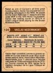 1976 O-Pee-Chee WHA #120  Vaclav Nedomansky  Back Thumbnail