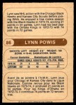 1976 O-Pee-Chee WHA #86  Lynn Powis  Back Thumbnail