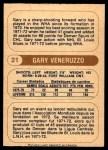 1976 O-Pee-Chee WHA #21  Gary Veneruzzo  Back Thumbnail