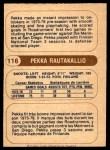 1976 O-Pee-Chee WHA #116  Pekka Rautakallio  Back Thumbnail