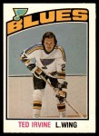 1976 O-Pee-Chee NHL #347  Ted Irvine  Front Thumbnail