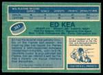 1976 O-Pee-Chee NHL #361  Ed Kea  Back Thumbnail