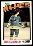 1976 O-Pee-Chee NHL #20  Derek Sanderson  Front Thumbnail