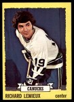 1973 Topps #53  Richard Lemieux   Front Thumbnail