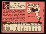 1969 Topps #88  Rich Nye  Back Thumbnail