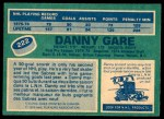 1976 O-Pee-Chee NHL #222  Danny Gare  Back Thumbnail