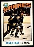 1976 O-Pee-Chee NHL #222  Danny Gare  Front Thumbnail
